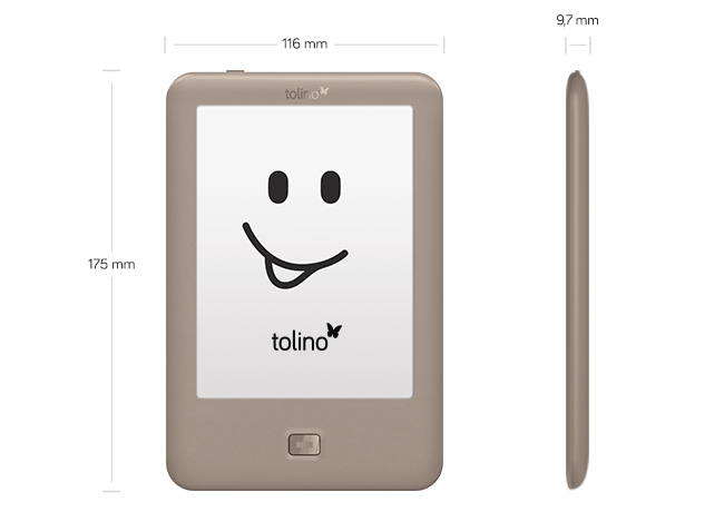 speciali ereader tolino page page misure mobile
