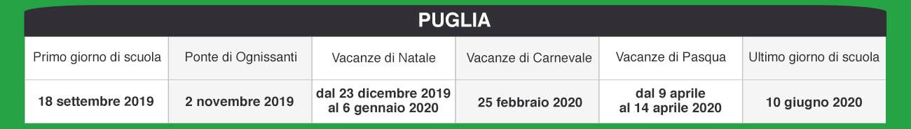 Calendario Scolastico 2020 18 Puglia.Libraccio It Calendario Scolastico 2019 2020