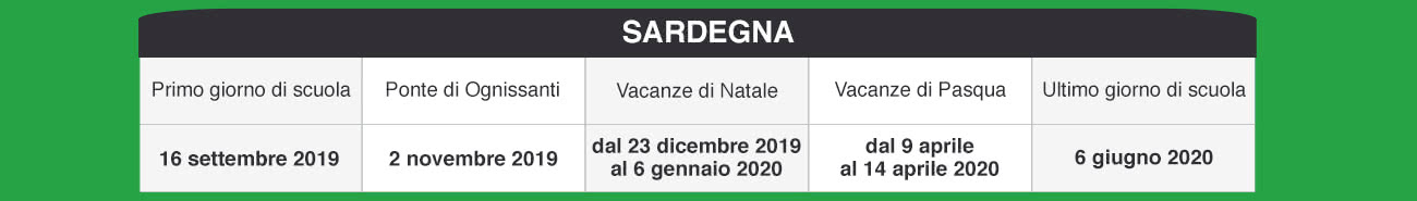 Calendario Scolastico 2020 18 Sardegna.Libraccio It Calendario Scolastico 2019 2020