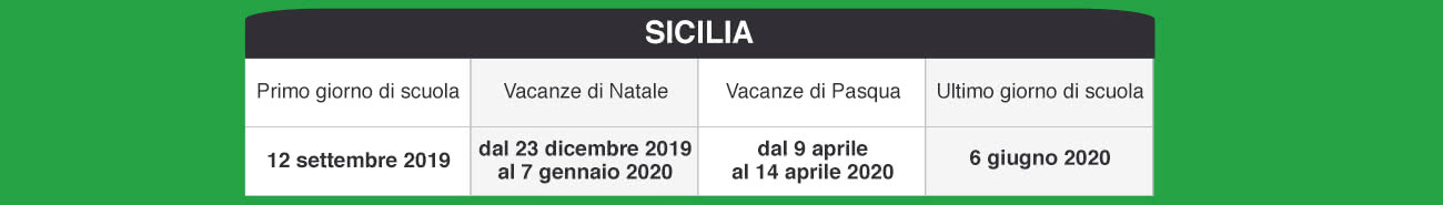 Calendario Scolastico 2020 Sicilia.Libraccio It Calendario Scolastico 2019 2020