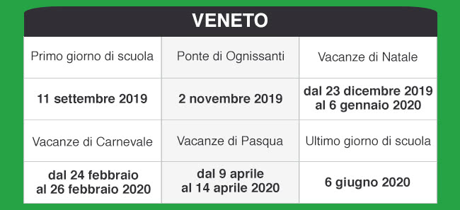 Calendario Scolastico 2020 Veneto.Libraccio It Calendario Scolastico 2019 2020