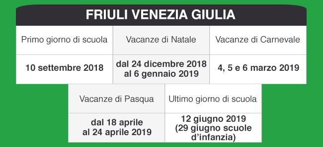 Calendario Scolastico Friuli Venezia Giulia.Libraccio It Calendario Scolastico 2018 2019