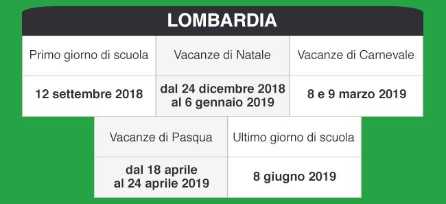 Calendario Scolastico Regione Lombardia.Libraccio It Calendario Scolastico 2018 2019