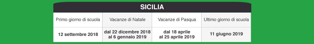 Calendario Regionale Scolastico Sicilia.Libraccio It Calendario Scolastico 2018 2019